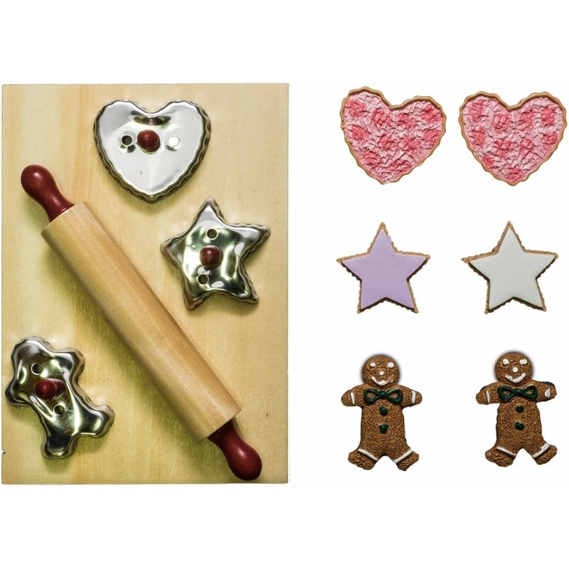 """18 """" Inch Doll Cookie Cutter Baking Tool Set 12 Pc Kitchen Fits American Girl AGBSCA"""