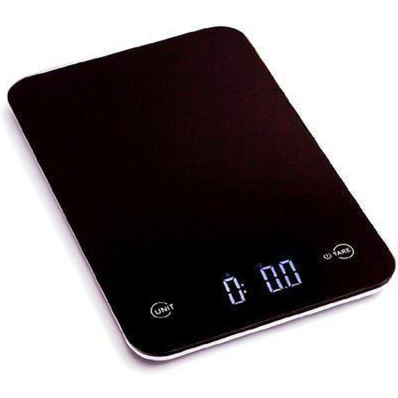 Touch Professional Digital Kitchen Scale (12 lbs Edition), Tempered Glass, Black ZK13