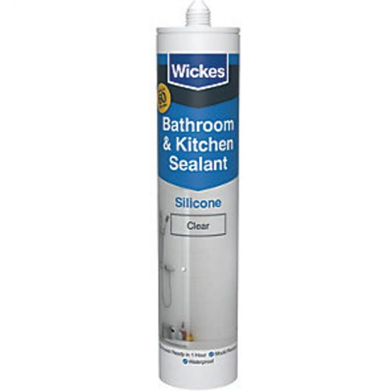 Wickes 60 Minute Kitchen & Bathroom Sealant Clear 300ml 5045502153569