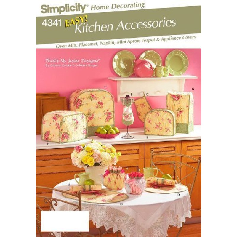 Simplicity Home Decor Pattern 4341 EASY Kitchen Accessories by That's My Sister 4341